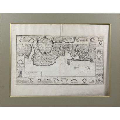 Engraving Plan of the Baye el Ville de Cadis