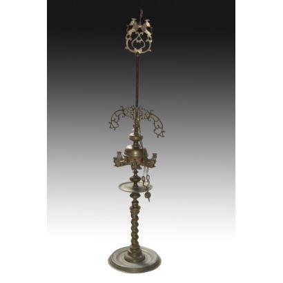 Velón de bronce, S. XIX.