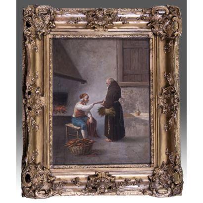 Pintura del siglo XIX. Óleo sobre lienzo.