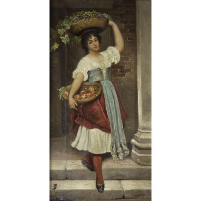 19th century painting. Spanish School, 19th century