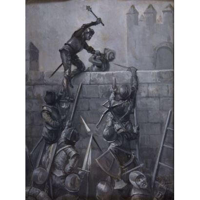 Pintura del siglo XIX. JIMÉNEZ ARANDA, José  (Sevilla, 1837 - 1903)