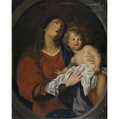 Según modelos de Anton van Dyck (Amberes,  1599-Londres, 1641)