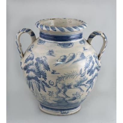 Vase, Talavera, S. XX.