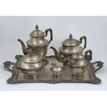 Coffee set in silver, S. XX.