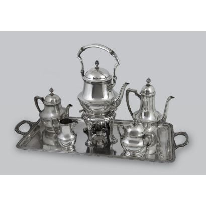 Silver. German silver coffee set.