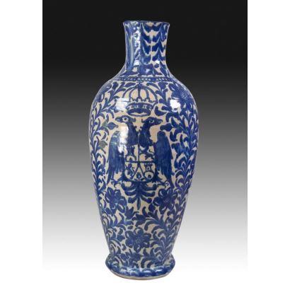 Heraldic vase of Fajalauza, s. XIX.