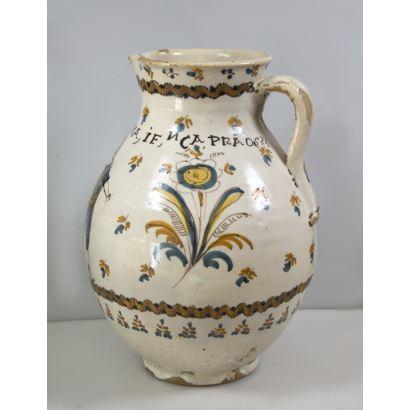 Figurative jug of Archbishop's Bridge, late s. XVIII.