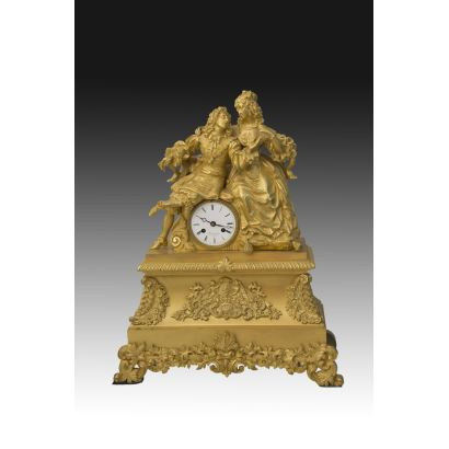 French desktop clock, S. XIX.