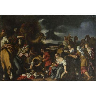 Pintura de Alta Época. Taller de PEDRO DE ORRENTE (Murcia, 1580 - Valencia, 1645)