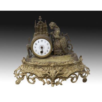 Relojes. Reloj de sobremesa, estilo francés, S. XIX.