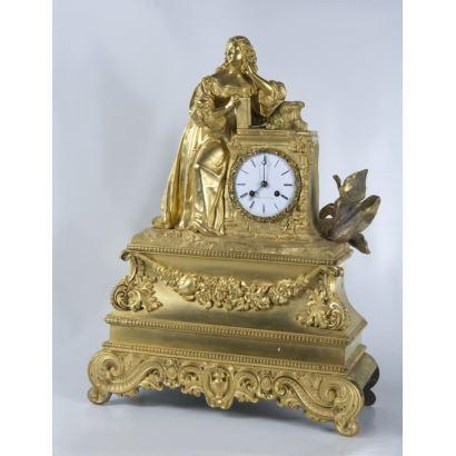 Relojes. Reloj de sobremesa, estilo Luis Felipe, Francia, S. XIX.