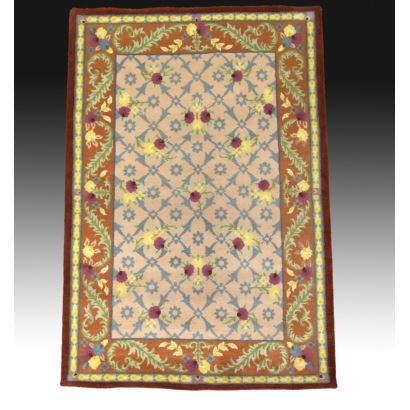 Spanish wool rug.
