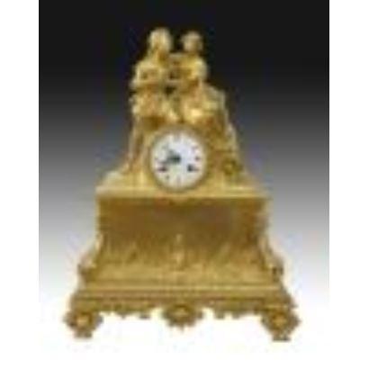 Reloj de sobremesa, estilo Luis Felipe, Francia S. XIX.