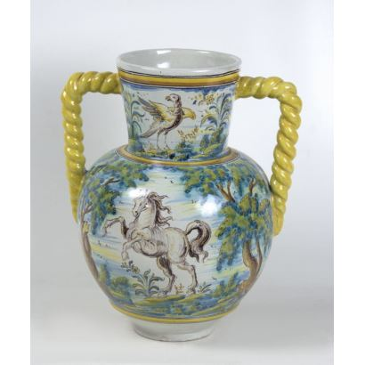Jarra en cerámica Ruiz de Luna, S. XX.