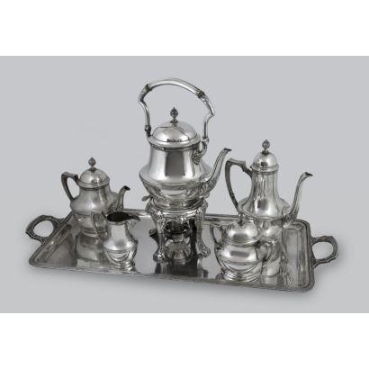 German silver coffee set.