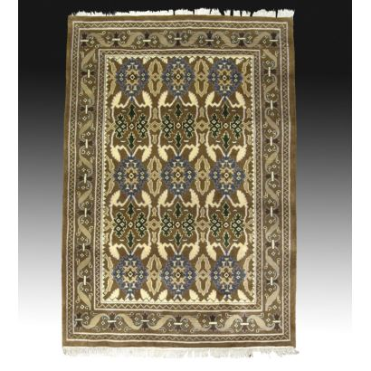 Wool rug in Persian style.