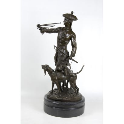 Bronze. According to the model of ADRIEN ÉTIENNE GAUDEZ (FRANCE, 1845-1902).
