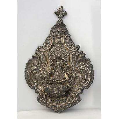Silver blessitera, late 18th century.