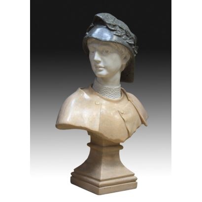 Marble bust, pps. XX.