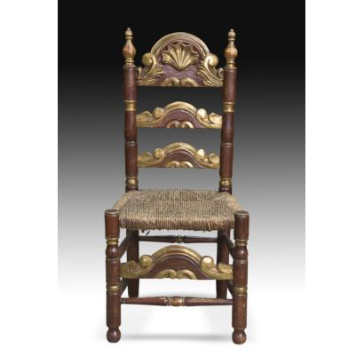 Conjunto de 6 sillas provenzales, circa 1900.