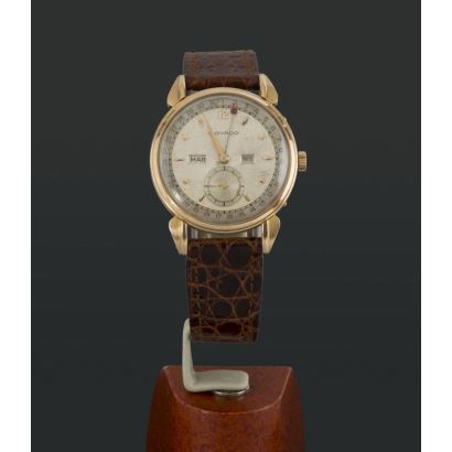 Movado watch in gold, 50s.