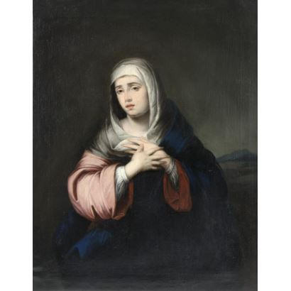 Pintura de Alta Época. BARTOLOMÉ ESTEBAN MURILLO (Sevilla, 1617 –  1682) y taller.