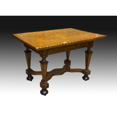 Mesa holandesa, siglo XVIII.