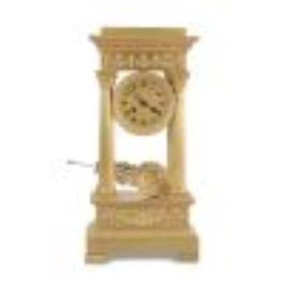Relojes. Reloj de columnas estilo Imperio, Francia, S. XIX.