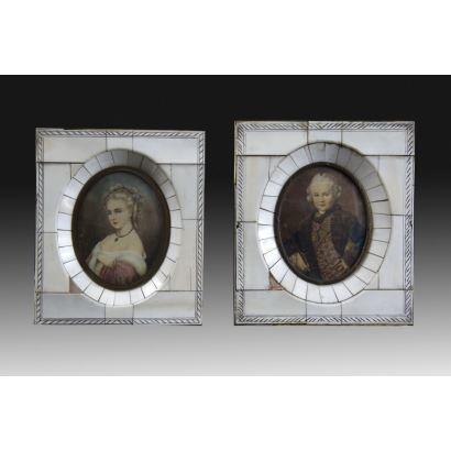Two miniatures, S. XIX.