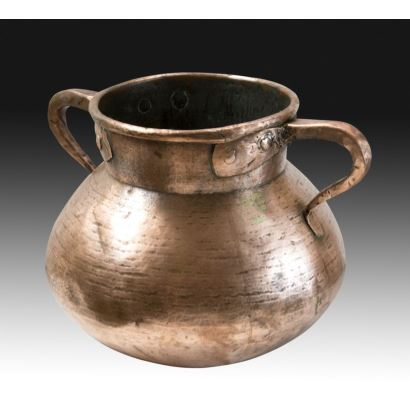 Old copper pot.