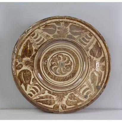 Plate of Manises, s. XVII