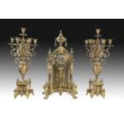 Reloj con guarnición, siglo XlX