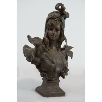 Esculturas. Según modelo de Alphonse Henri NELSON ( Francia, 1854-1919),