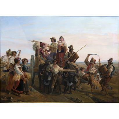 Following models by Louis Léopold Robert (Switzerland, 1794 - 1835)