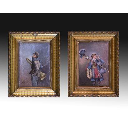Pintura del siglo XIX. LLUÍS RÀFOLS OLIVELLA (Vilafranca del Penedés, activo en la segunda mitad del siglo XIX)