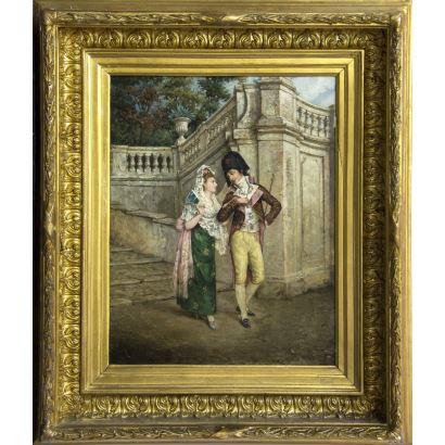 Pintura del siglo XIX. JOSÉ JIMÉNEZ ARANDA (1837 - 1903)