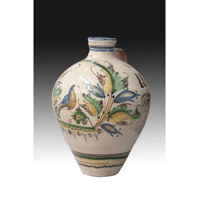Alcuza de cerámica de Puente del Arzobispo, siglo XIX.