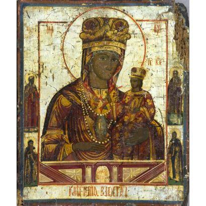 Icono ruso, circa 1800.