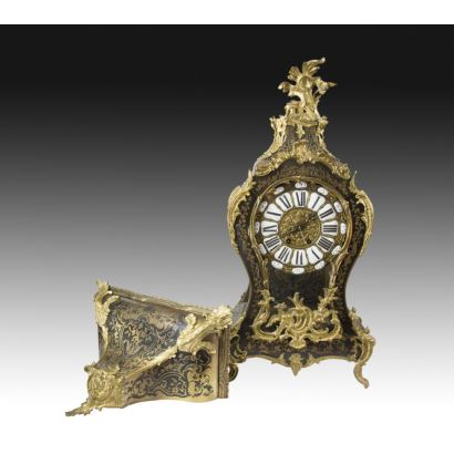 Reloj de sobremesa de estilo Boulle, mediados del s. XIX.