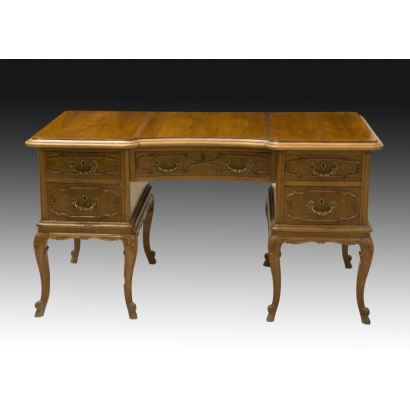 Furniture. English office table, 19th century.