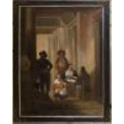 Pintura del siglo XIX. Óleo sobre lienzo. Pintura costumbrista.