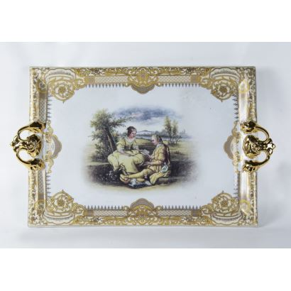 Porcelain tray, S. XX.