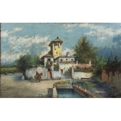 Escuela Española, circa 1900.