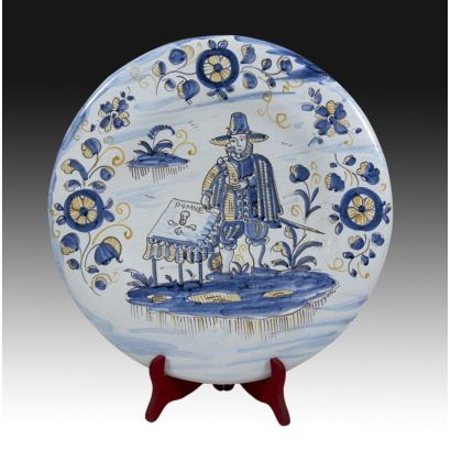 Decorative plate, Talavera, S. XX.