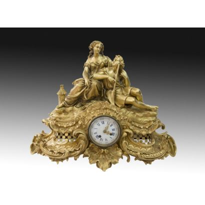 Table clock, S. XIX.