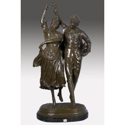 Figura de bronce.
