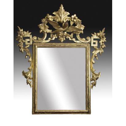 Espejo estilo Carlos IV, hacia 1790.
