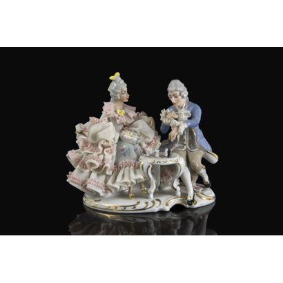 German porcelain group, pps. XX.
