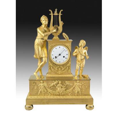 Reloj de sobremesa Imperio, finales del s. XIX.
