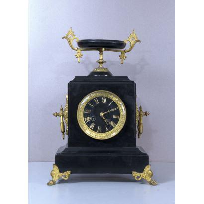 Reloj estilo Imperio, S. XIX.